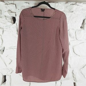 Theory Womens Small Silk Popover Blouse